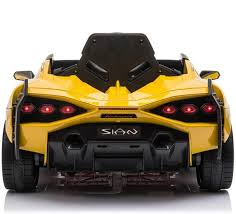 Latest 2020 Licensed Lamborghini Sian childrens electric ride on car with parental control - Yellow
