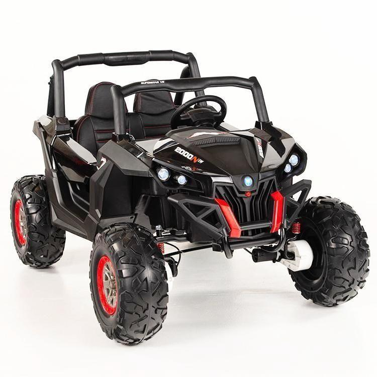Renegade UTV-MX Buggy Style 24V 4WD Kids Electric Ride On With EVA Tyres, LEATHER seats and MP4 - Black