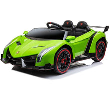 Load image into Gallery viewer, Fully Licensed Lamborghini Veneno 2 seater ride on car - GREEN