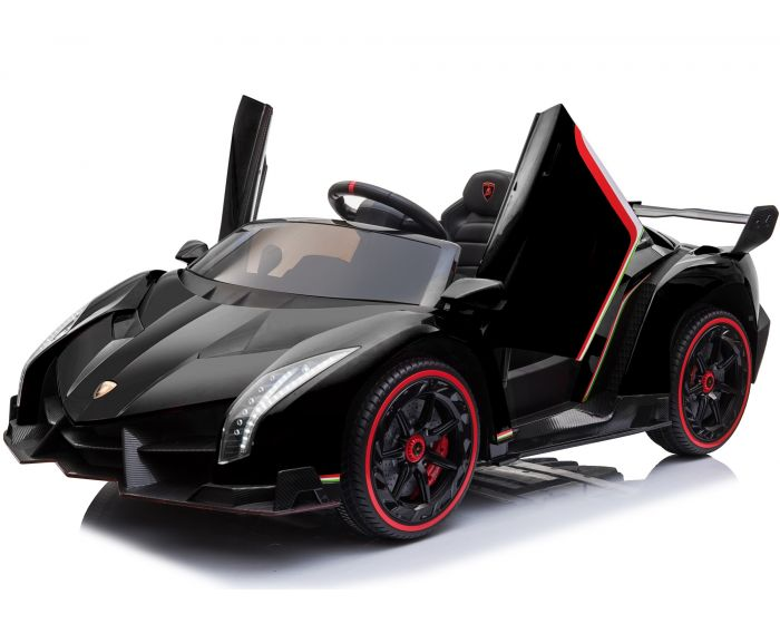 Fully Licensed Lamborghini Veneno 2 seater childrens ride on car - BLACK