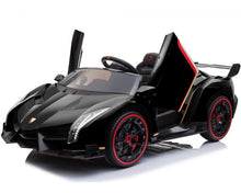 Load image into Gallery viewer, Fully Licensed Lamborghini Veneno 2 seater childrens ride on car - BLACK