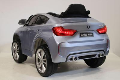 Licensed BMW X6M 12V Electric Ride On Car with upgraded LEATHER seats, EVA tyres and metallic blue painted