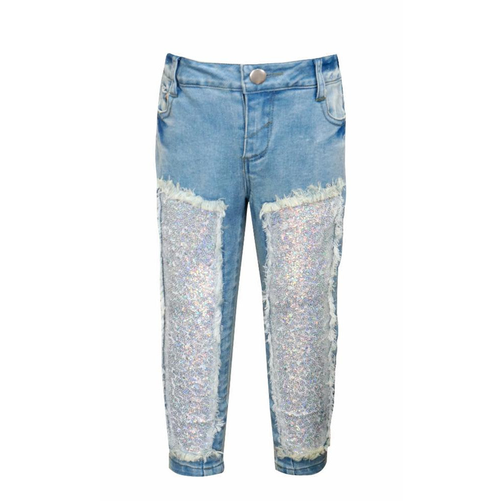 Baby Sara, Girl - Pants,  Baby Sara Sparkle Patch Jeans