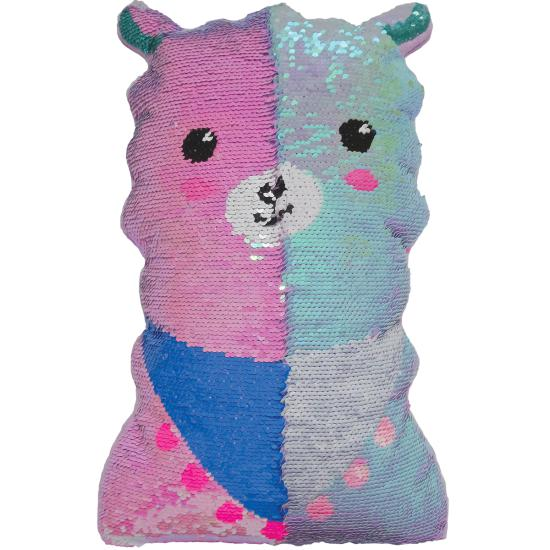 Llama Reversible Sequin Pillow-Gifts - Kids Misc-Iscream-Eden Lifestyle