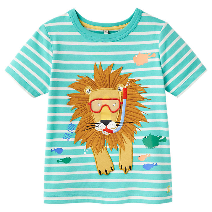 Joules Lion T-Shirt-Baby Boy Apparel - Tees-Joules-12M-Eden Lifestyle
