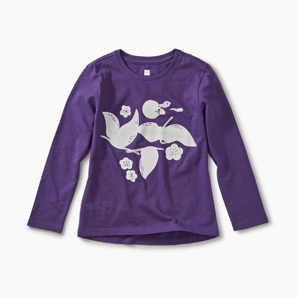 Crane Dance Graphic Tee-Girl - Tees-Tea Collection-2-Eden Lifestyle
