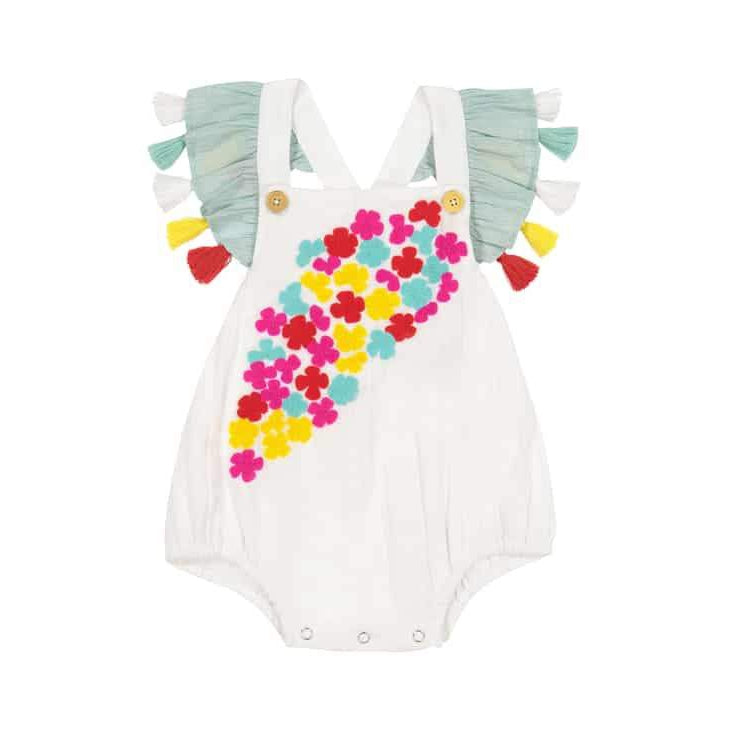 2fa46b71437 Masala Baby Floral Flutter Sleeve Romper-Baby Girl Apparel - Rompers-Masala  Baby-