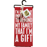 Towel & Cutter Set - Remind Family That I'm A Gift
