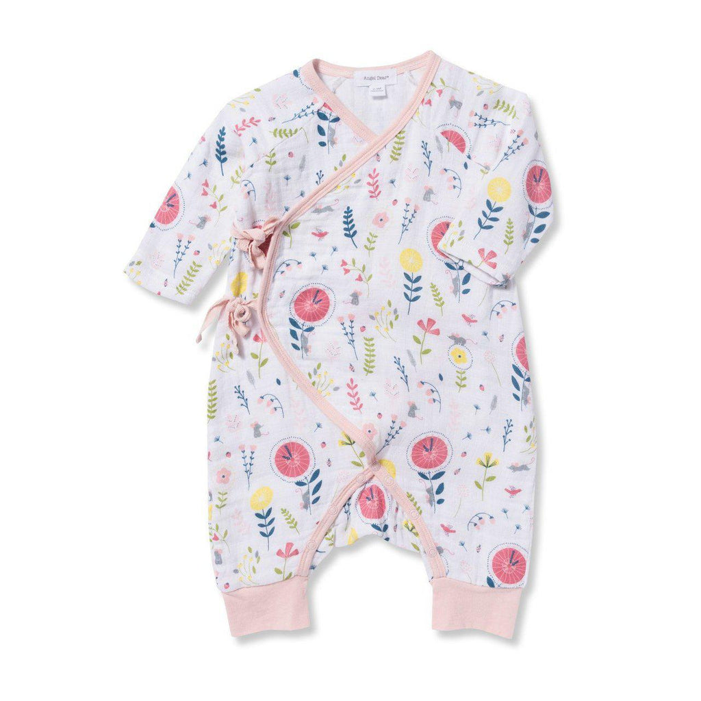 Angel Dear H.D.D Wrap Coverall-Baby Girl Apparel - Rompers-Angel Dear-0-3M-Eden Lifestyle
