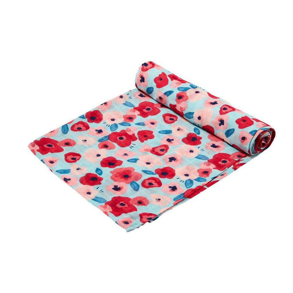 Poppies Swaddle Blanket