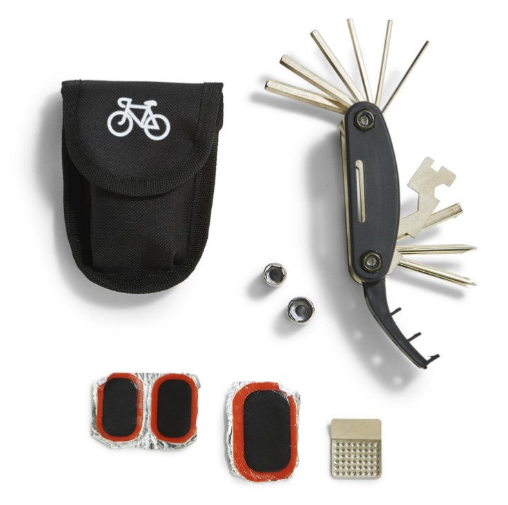 Two's Company, Gifts - Men,  15-in-1 Bicycle Multi-Tool and Repair Kit