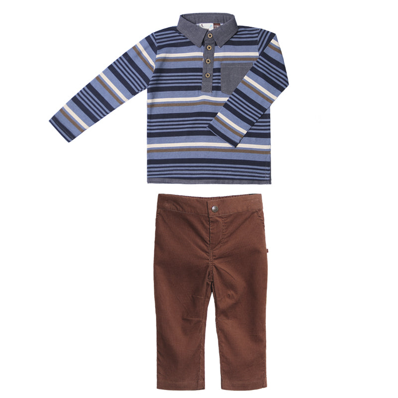 Fore! Axel & Hudson Dapper Set-Baby Boy Apparel - Outfit Sets-Fore-9-12M-Eden Lifestyle