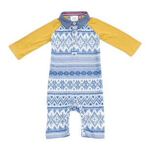 Fore, Baby Boy Apparel - Rompers,  Fore! Axel & Hudson Fair Isle Romper