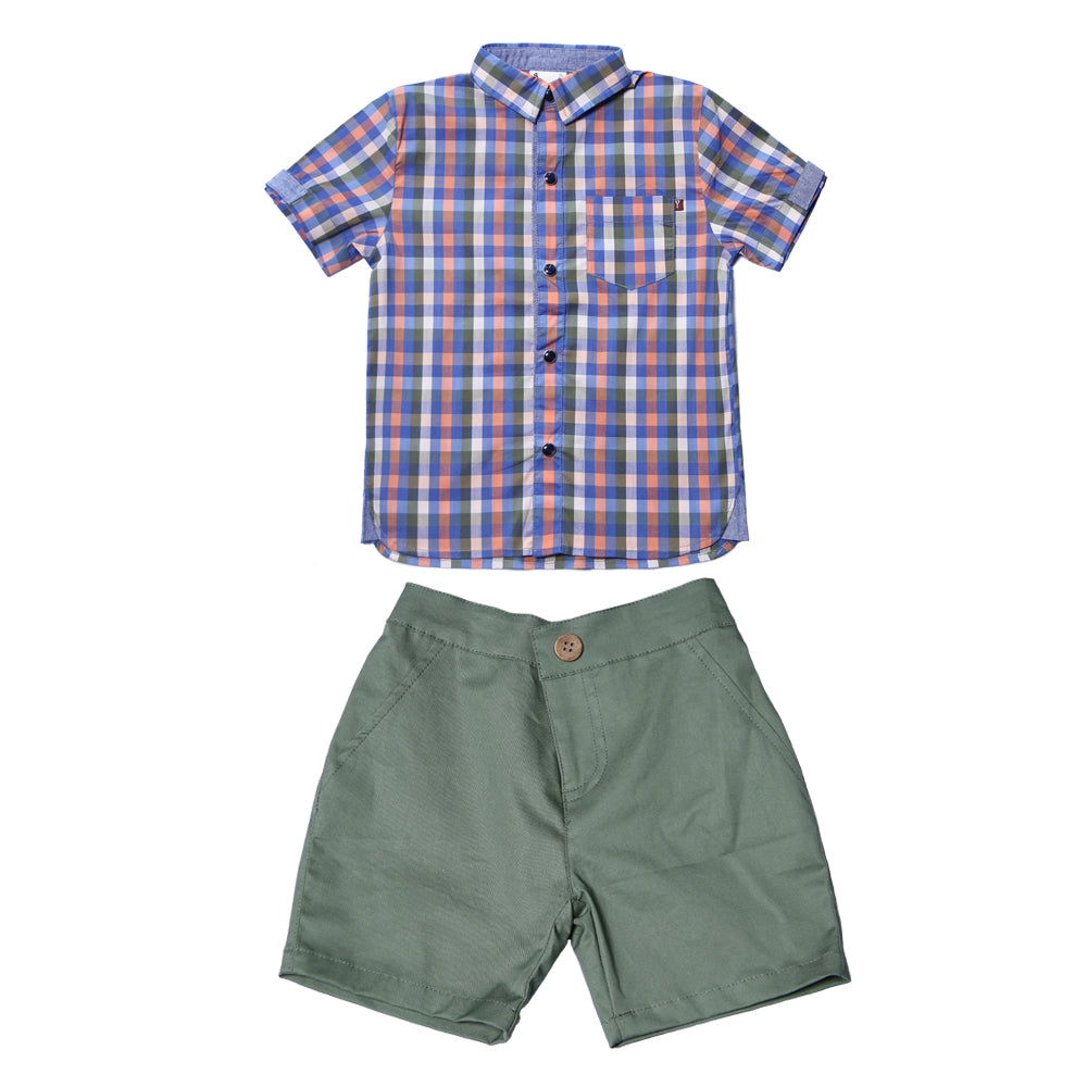 Fore, Baby Boy Apparel - Outfit Sets,  Fore! Axel & Hudson Seafoam Tee Time Set