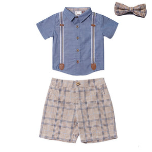 Fore! Axel & Hudson Scottish Caddy Boys Set-Baby Boy Apparel - Outfit Sets-Fore-6-9M-Eden Lifestyle
