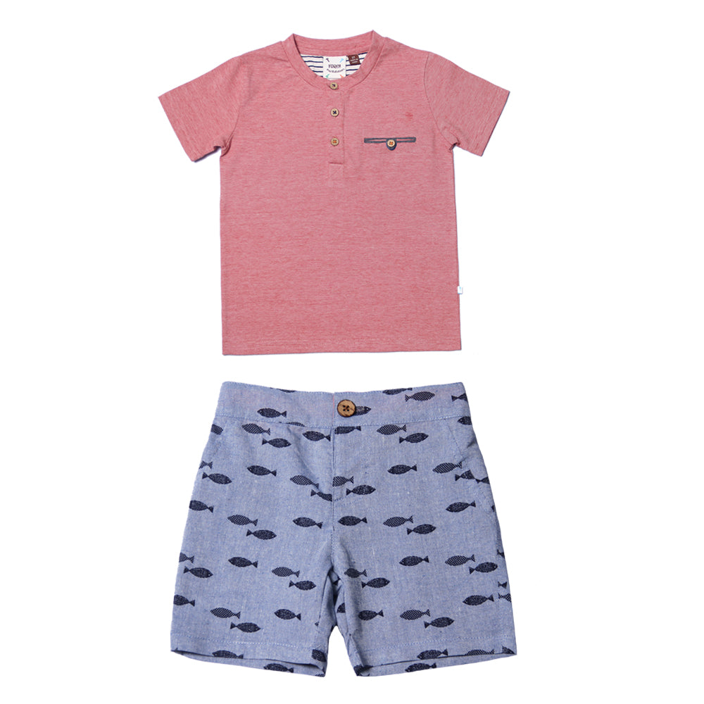 Fore, Baby Boy Apparel - Outfit Sets,  Fore! Axel & Hudson Fly Fish Boys Set