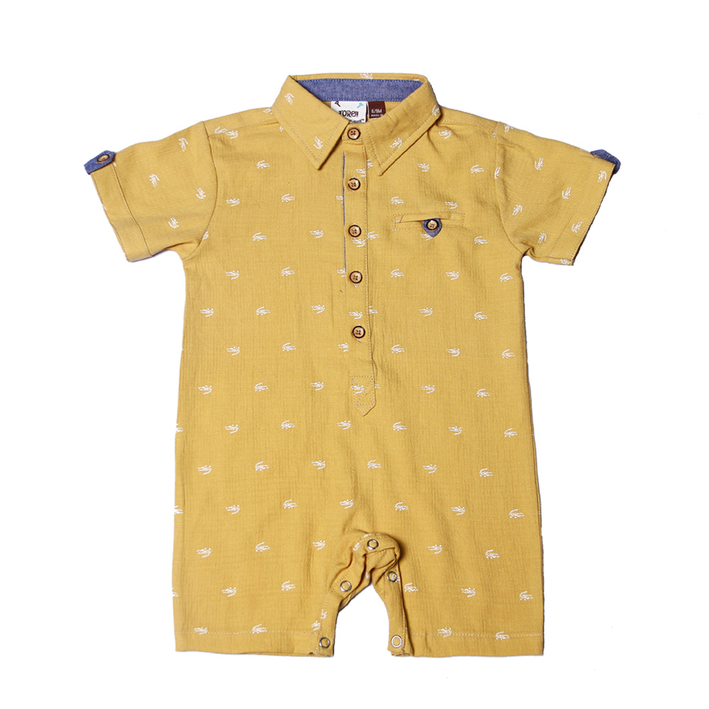Fore! Axel & Hudson Sunset Boulevard Romper-Baby Boy Apparel - Rompers-Fore-6-9M-Eden Lifestyle
