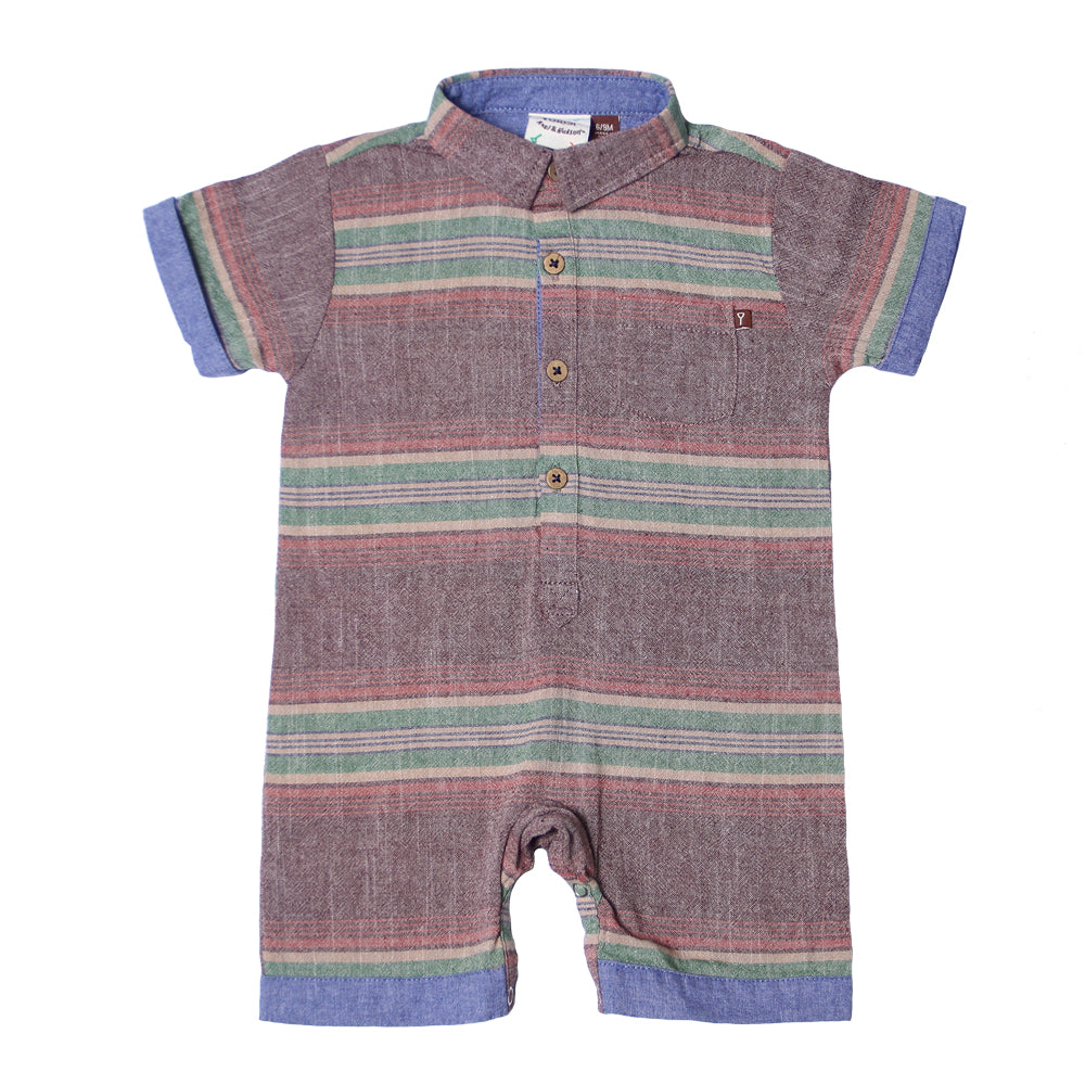 Fore! Axel & Hudson Santa Fe Romper-Baby Boy Apparel - Rompers-Fore-6-9M-Eden Lifestyle