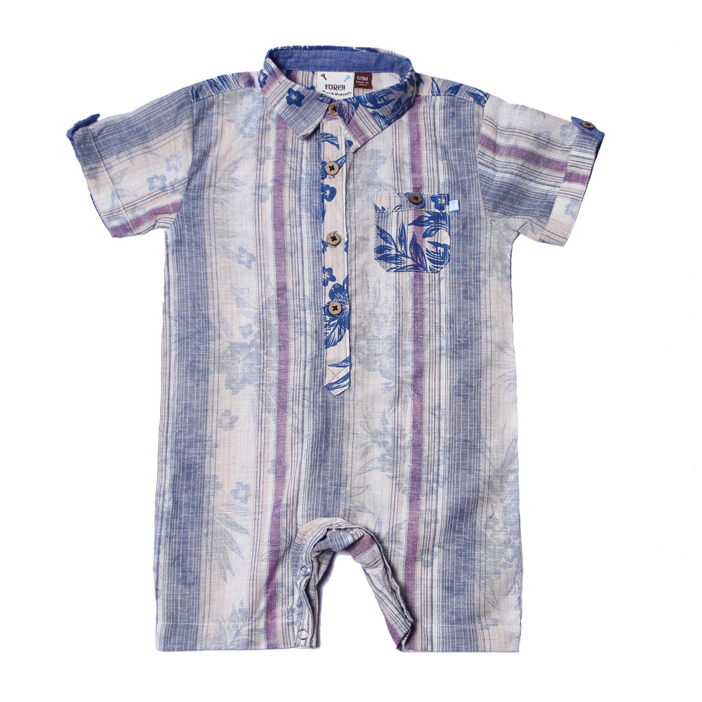 Fore! Axel & Hudson Aloha Romper-Baby Boy Apparel - Rompers-Fore-6-9M-Eden Lifestyle