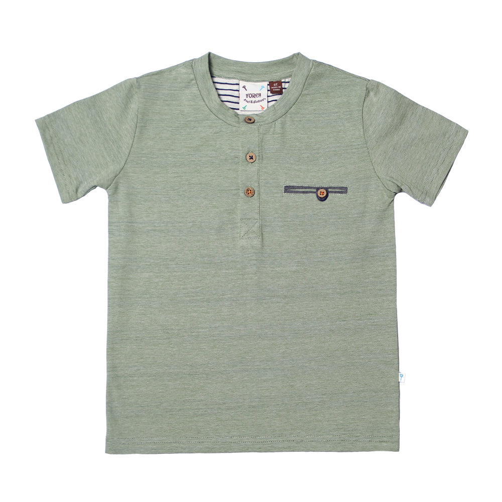 Fore, Baby Boy Apparel - Shirts & Tops,  Fore! Axel & Hudson Seafoam Green Boys Henley