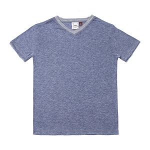 Blue White Heather Melange Jersey Tee-Shirts-Fore-2T-Eden Lifestyle