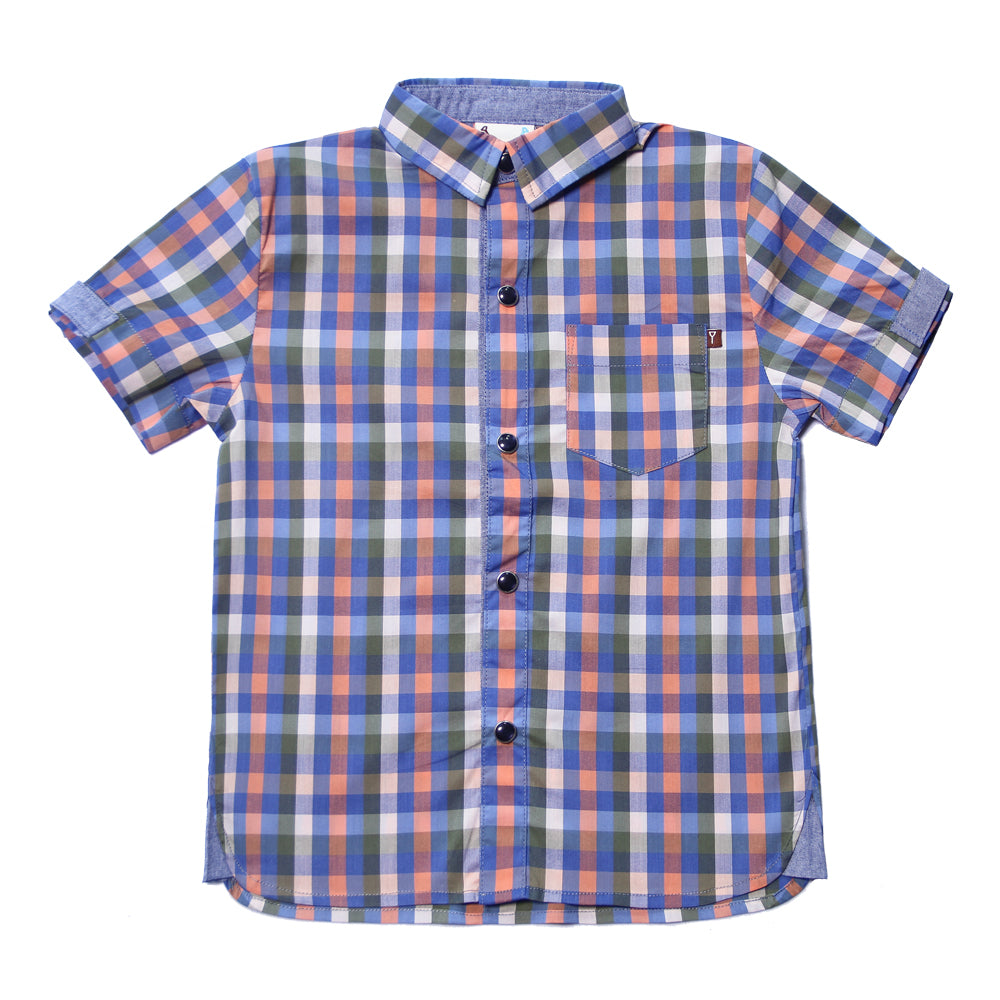 Fore! Axel & Hudson Tee Time Check Boys Shirt-Boy - Shirts-Fore-2T-Eden Lifestyle