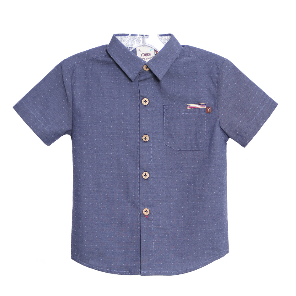 Fore! Axel & Hudson Chambray Dot Button Up-Boy - Shirts-Fore-2T-Eden Lifestyle