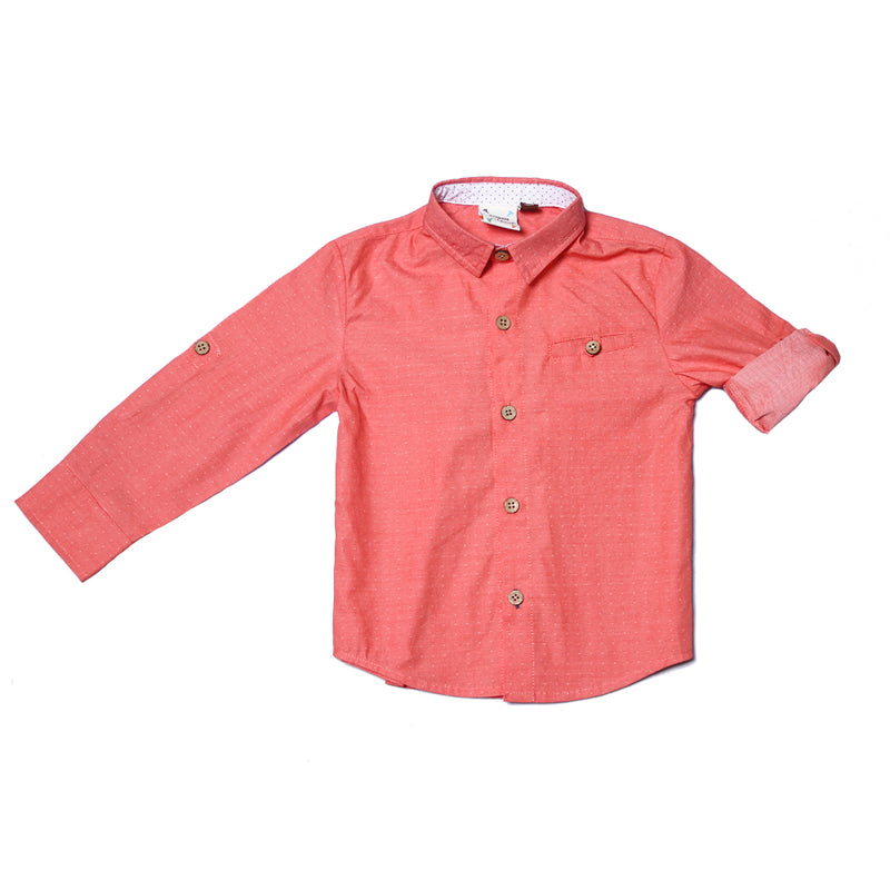 Fore! Axel & Hudson Salmon Dot Button Up-Boy - Shirts-Fore-2T-Eden Lifestyle