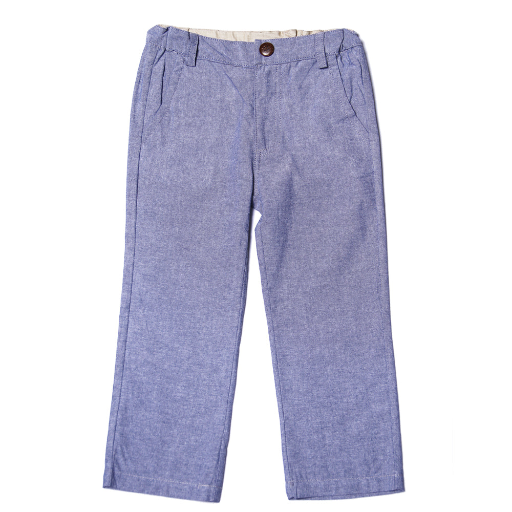 Fore! Axel & Hudson Tee Time Boys Pants - Chambray-Boy - Pants-Fore-2T-Eden Lifestyle