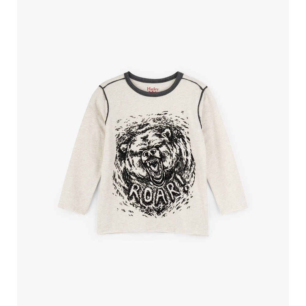 Hatley, Boy - Tees,  Hatley Grizzly Roar Long Sleeve Tee