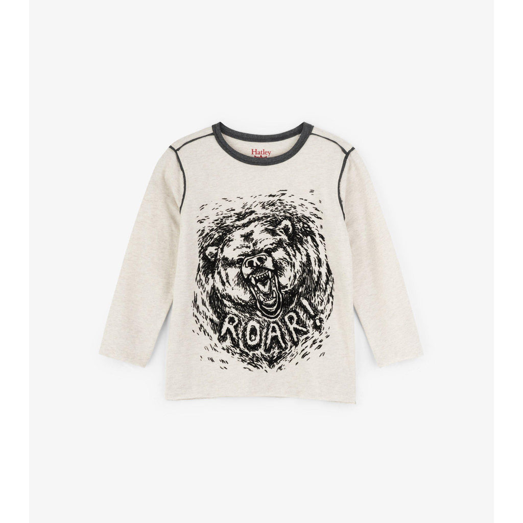 Hatley Grizzly Roar Long Sleeve Tee-Boy - Tees-Hatley-3-Eden Lifestyle