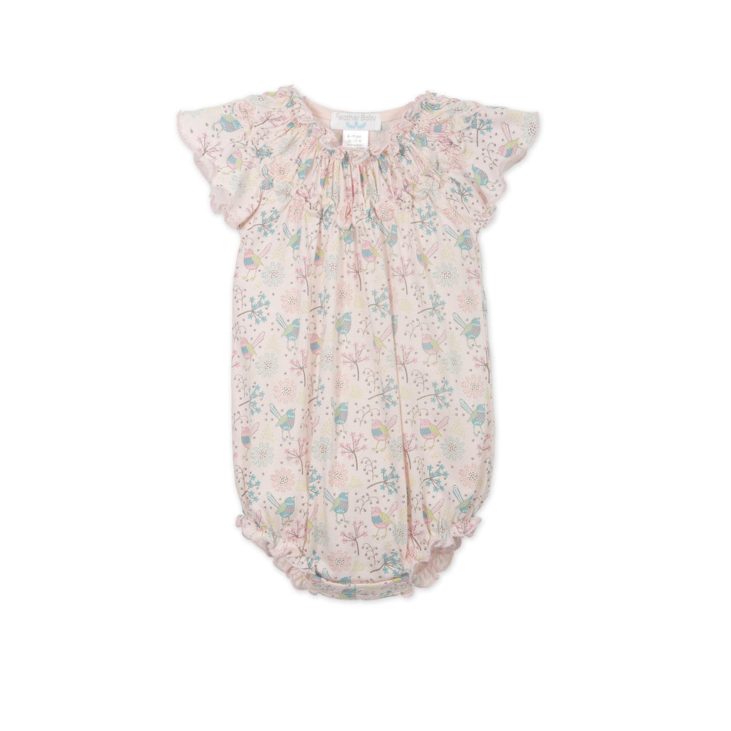 Ruched Bubble - Regal Bird-Baby Girl Apparel - One-Pieces-Feather Baby-0-3M-Eden Lifestyle