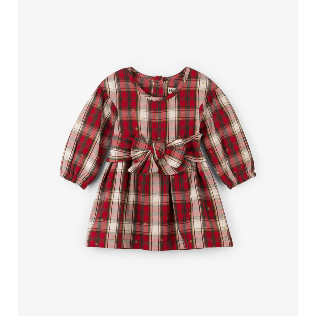 Hatley Holiday Plaid Baby Party Dress-Baby Girl Apparel - Dresses-Hatley-3-6M-Eden Lifestyle