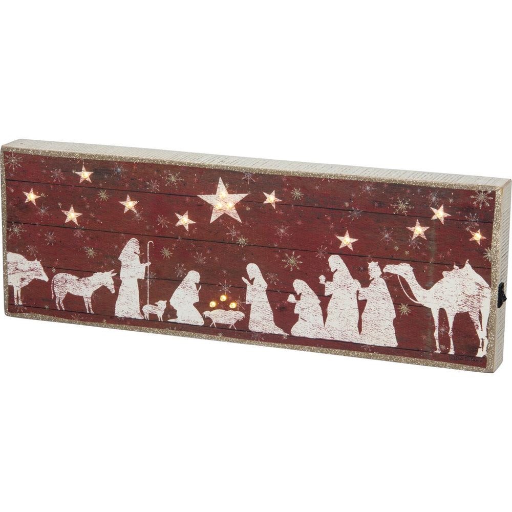 LED Box Sign - Nativity Scene
