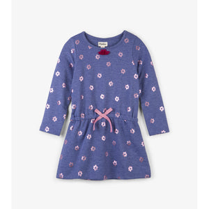 Hatley Metallic Flowers French Terry Dress-Girl - Dresses-Hatley-4-Eden Lifestyle