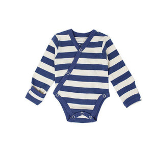 Loved Baby, Baby Boy Apparel - One-Pieces,  L'ovedbaby Organic Kimono Bodysuit - Stripe Hype