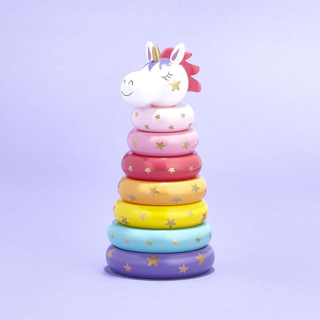Unicorn Ring Stack-Gifts - Kids Misc-Eden Lifestyle-Eden Lifestyle