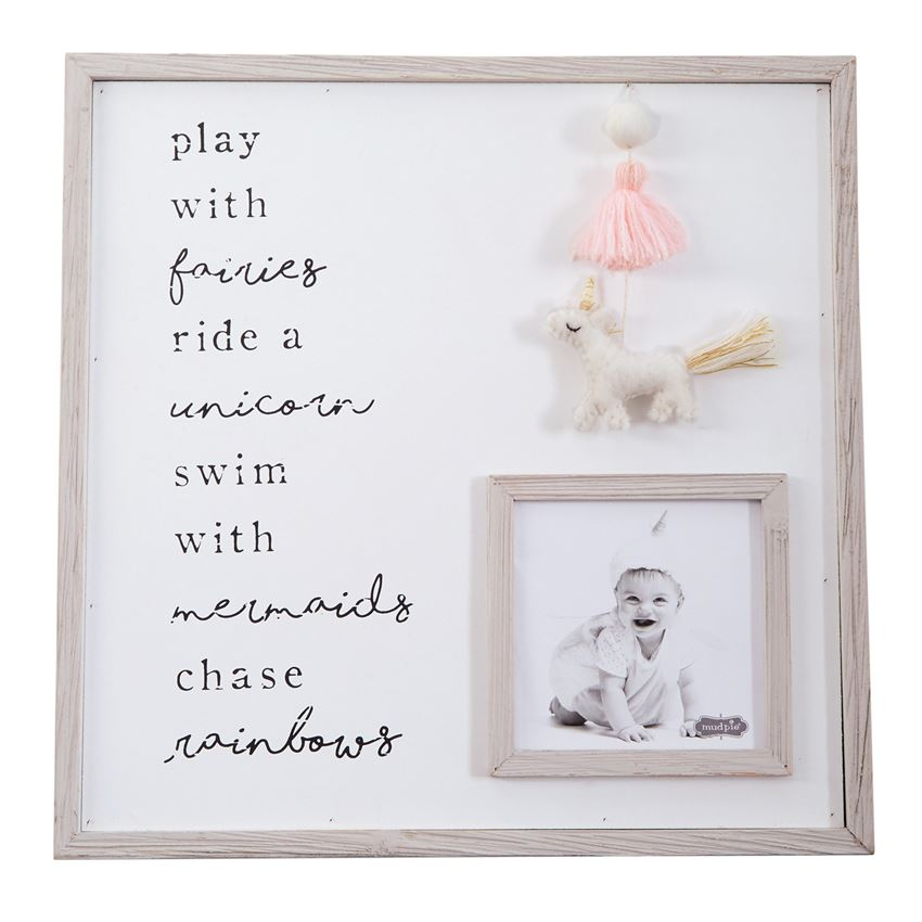 Eden Lifestyle, Home - Decorations,  Unicorn Nursery Wall Art Frame