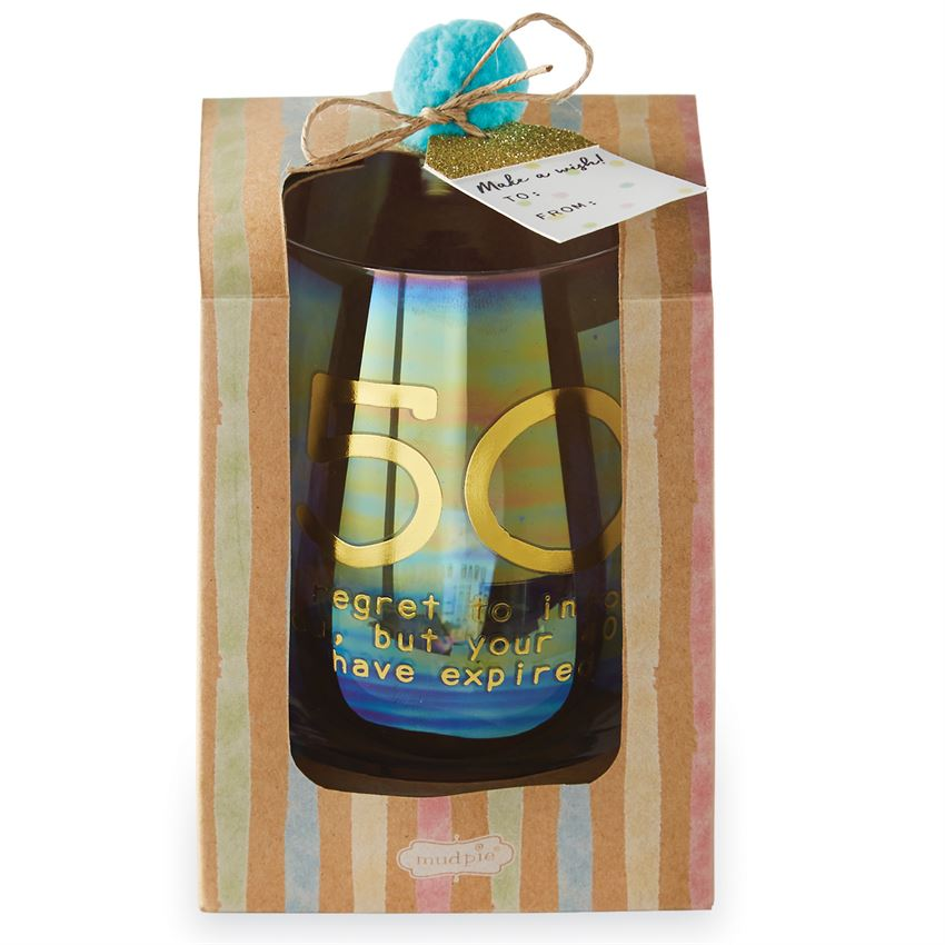 50 Years Boxed Wine Glass Gift