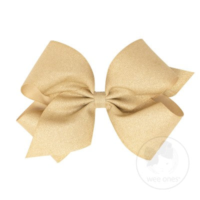 Wee Ones King WeeSparkle Bow-Accessories - Bows & Headbands-Wee Ones-Champagne-Eden Lifestyle