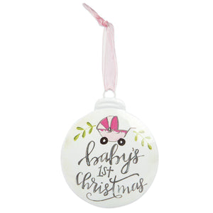 Baby's First Christmas Ornament-Gifts-Eden Lifestyle-Baby Girl-Eden Lifestyle