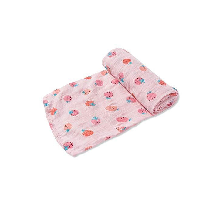 Angel Dear Bamboo Swaddle - Strawberry-Baby - Swaddles-Angel Dear-Eden Lifestyle