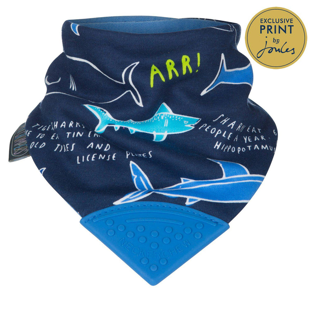 Cheeky Chompers Neckerchew Teething Bib-Baby - Feeding-Cheeky Chompers-Joules Sharks-Eden Lifestyle