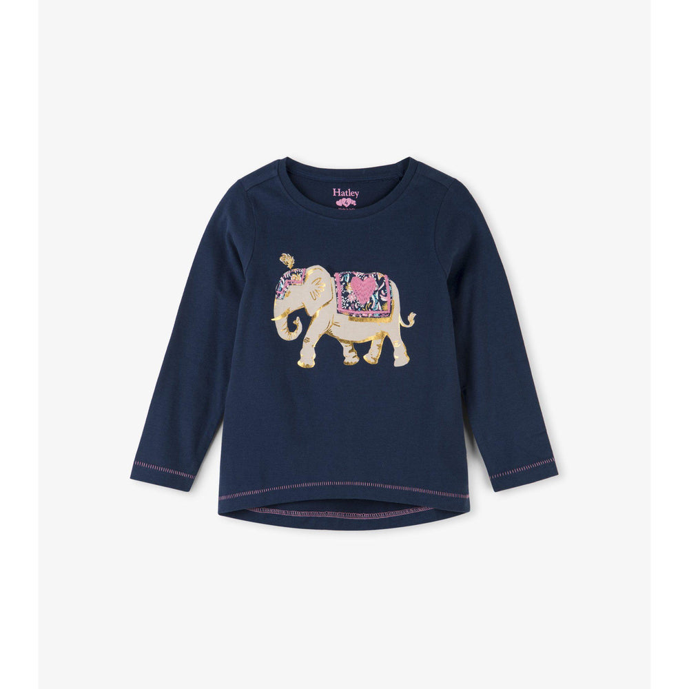 Hatley, Girl - Tees,  Hatley Elegant Elephant Long Sleeve Tee