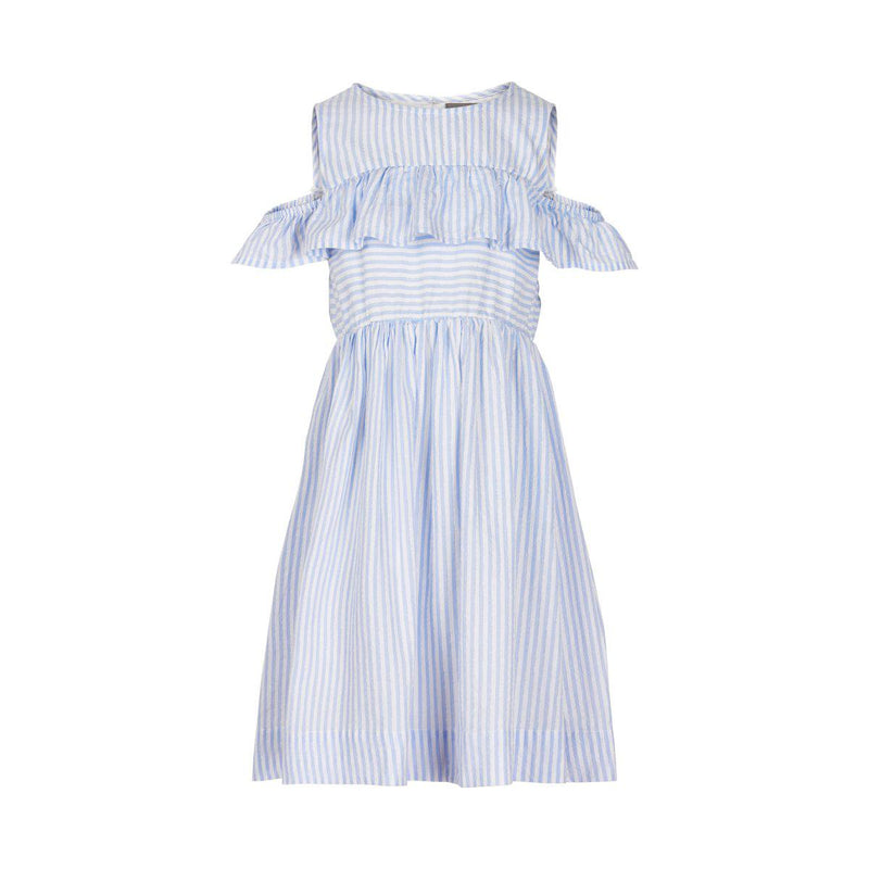 Blue Striped Dress-Girl - Dresses-Creamie-4-Eden Lifestyle