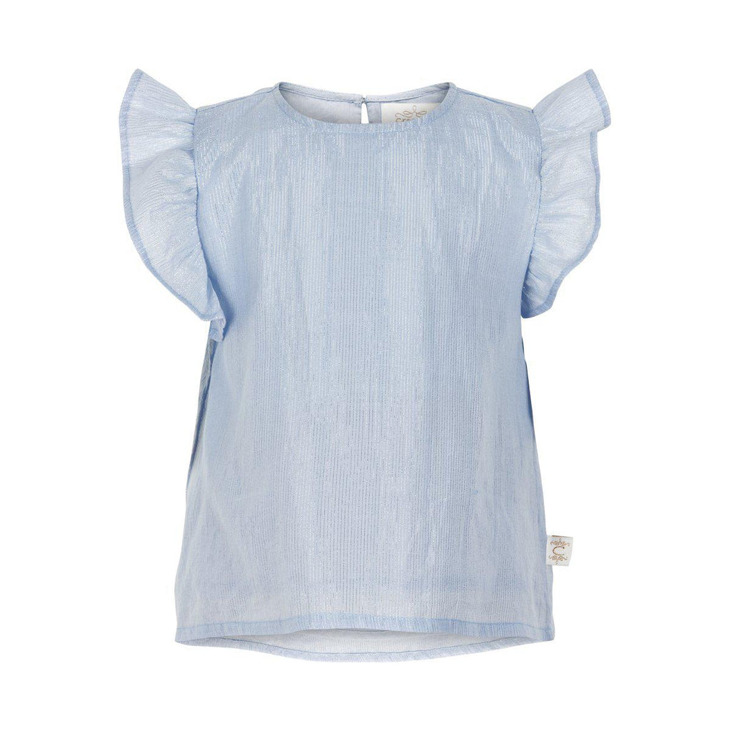 Blue Tencil Top-Girl - Shirts & Tops-Creamie-3-Eden Lifestyle