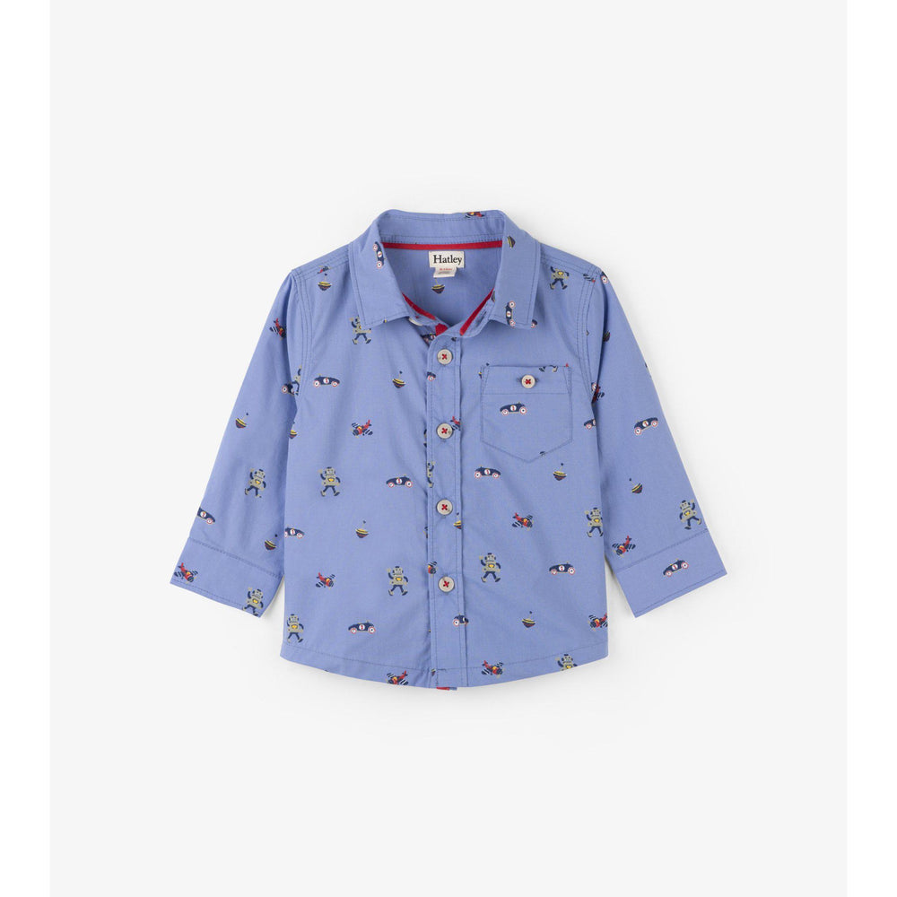 Hatley Retro Boys Baby Button-down-Baby Boy Apparel - Shirts & Tops-Hatley-6-9M-Eden Lifestyle