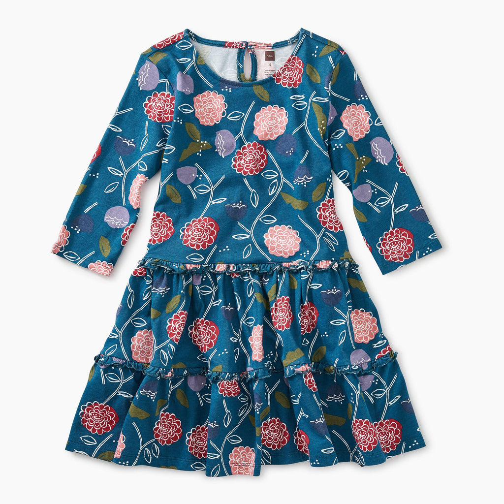 Printed Tiered Dress Folksy Floral-Girl - Dresses-Tea Collection-3-Eden Lifestyle
