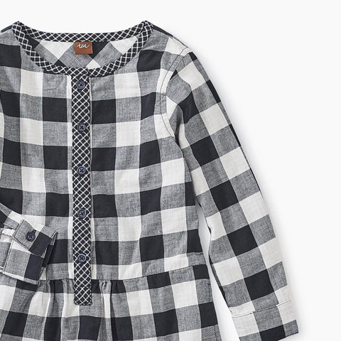 Image of Checkered Plaid Shirtdress