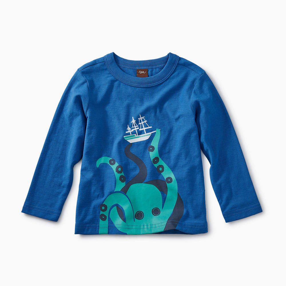 Tea Collection, Baby Boy Apparel - Tees,  Giant Octopus Graphic Tee